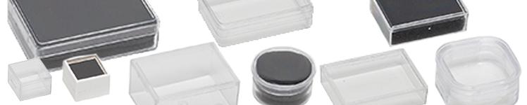50 Klarsichtdose 19x19x14 mm mit Schaumeinlage weiß