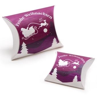 Fix-Box 100x155 mm Seidenkarton weiß Purple/Schlitten