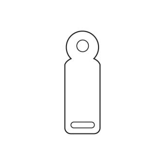 Kettenetiketten 35x12 mm