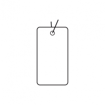 Fadenetiketten 31x16,5 mm aus Karton
