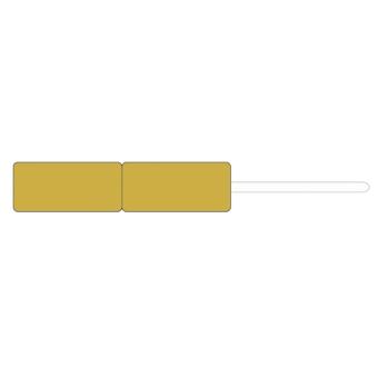 Schmuck-Anhänge-Etiketten 22x10 mm gold