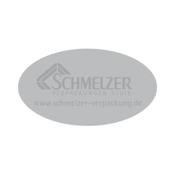 Etiketten 45x25 mm oval silber | silber