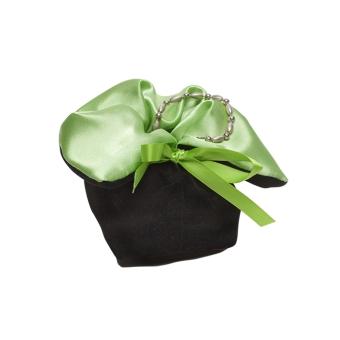 Schmuckbeutel 70x70x75 mm grün