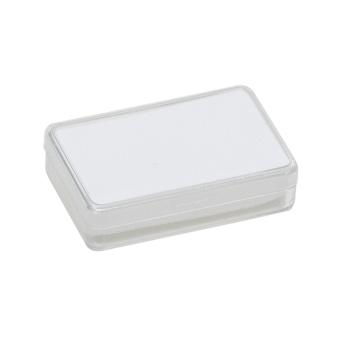 Klarsichtdose 53x33x12 mm weiß