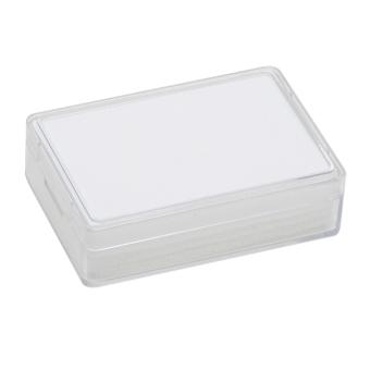Klarsichtdose 80x55x20 mm weiß