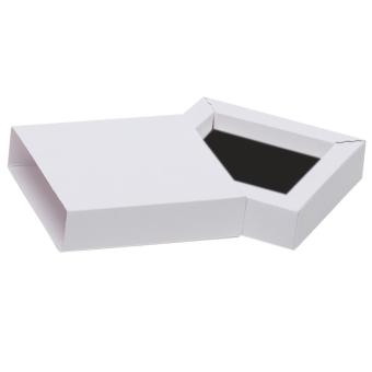 Schmuck-Schiebebox 90x90x23 mm weiß | schwarz