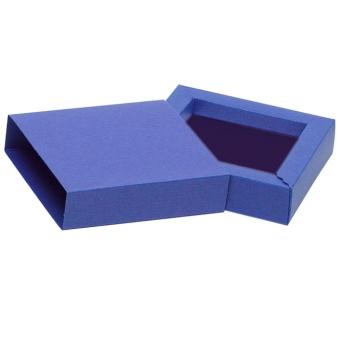 Schmuck-Schiebebox 90x90x23 mm blau | blau