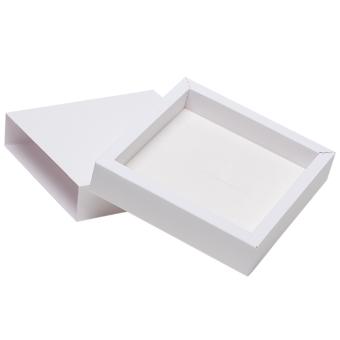 Schmuck-Schiebebox 160x160x35 mm weiß | weiß