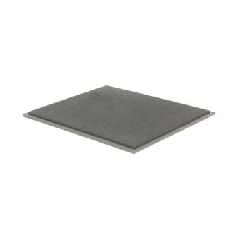 Combi-Abdeckplatte einfach, Kunstleder dunkelbraun