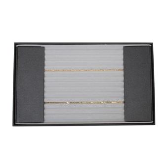 Combi-Perlkettenlade 450x265x35 mm Straußenleder | weiß