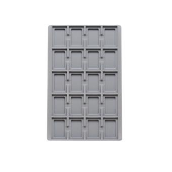 TE-Ständer 188x292 mm, 20 Gefächer 38x55 mm
