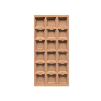 TE-Ständer 125x250 mm, 18 Gefächer 35x35 mm sand