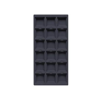 TE-Ständer 125x250 mm, 18 Gefächer 35x35 mm dunkelblau