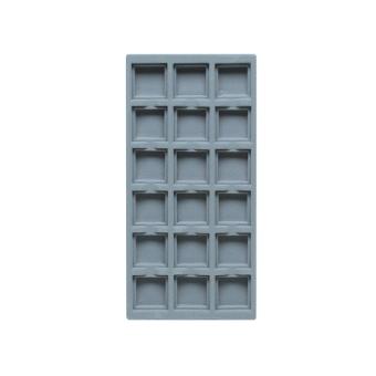 TE-Ständer 125x250 mm, 18 Gefächer 35x35 mm taubenblau