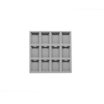 TE-Ständer 162x162 mm, 12 Gefächer 35x45 mm