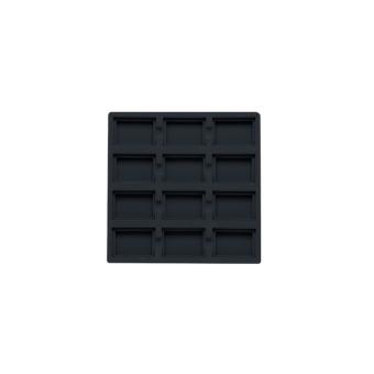 TE-Ständer 162x162 mm, 12 Gefächer 45x35 mm schwarz