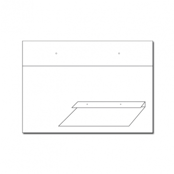 Ohrstecker Winkelkarten 78x55mm / 55x78mm quer
