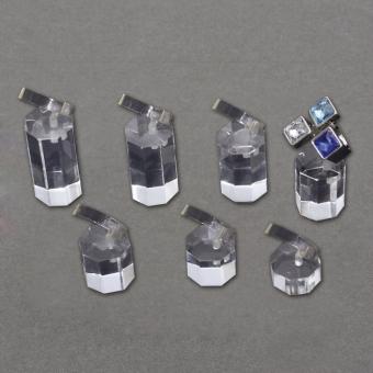Ringständer 7er Set transparent