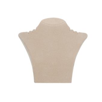 Papp-Büste 135x125 mm klein beige