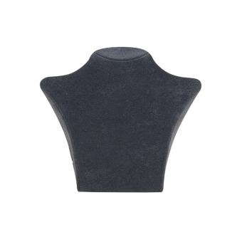 Papp-Büste 135x125 mm klein dunkelgrau