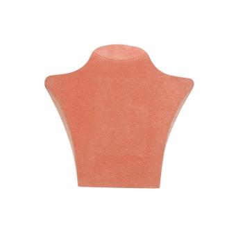 Papp-Büste 135x125 mm klein orange