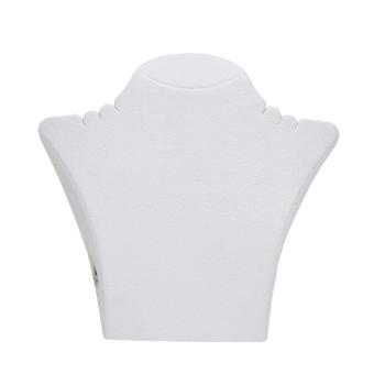 Papp-Büste 260x238 mm groß weiß