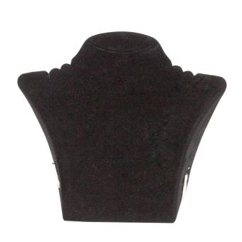 Papp-Büste 260x238 mm groß schwarz