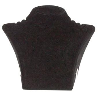 Papp-Büste 290x265 mm groß schwarz