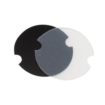 Ringplättchen 35 mm Ø , PVC-Folie gefrostet