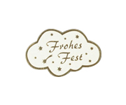 Etiketten 40X25 mm Frohes Fest